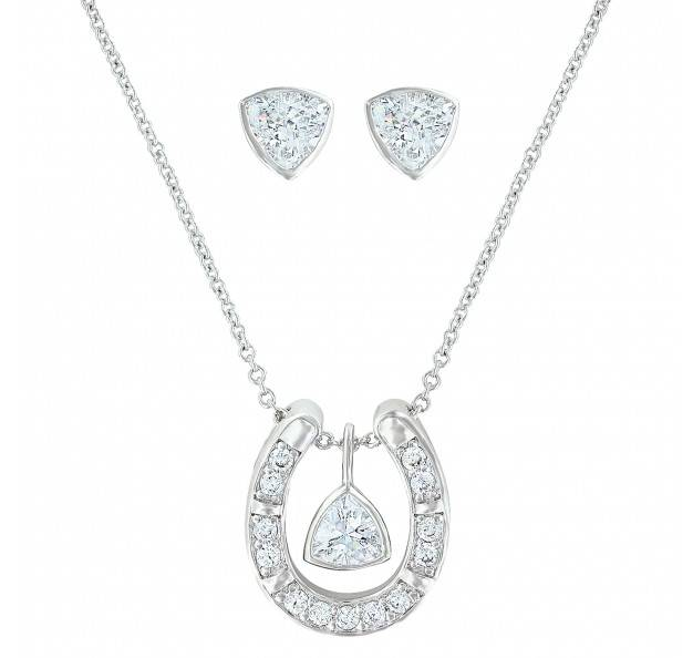 Montana Silversmiths Treasured Trillion Sparkling Jewelry Set