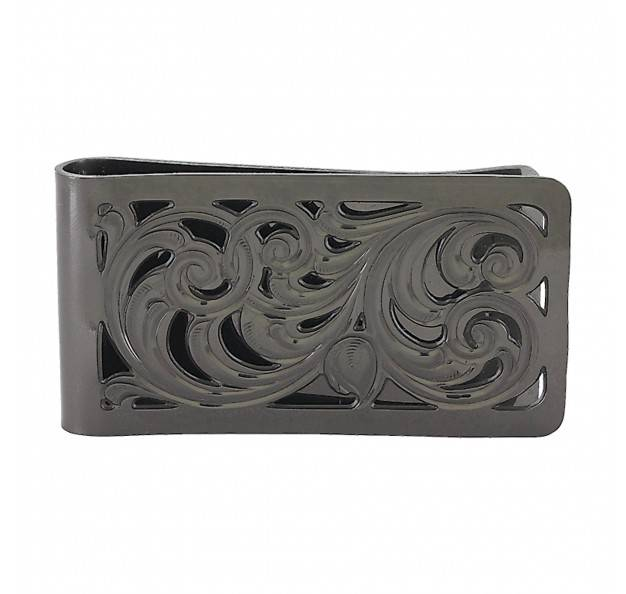 Montana Silversmiths Open Fililgree Square Money Clip