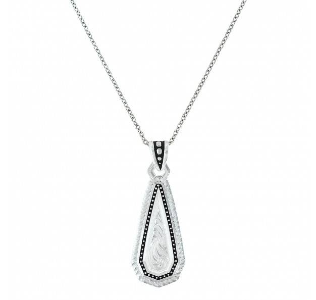 Montana Silversmiths A Fine Stitched Shard Filigree Drop Necklace