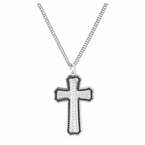 Montana Silversmiths Pin Point And Wheat Cross Necklace