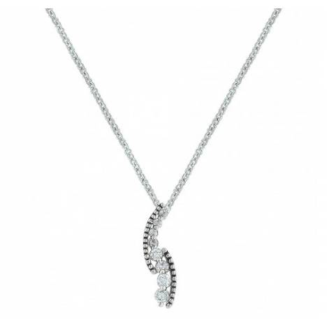 Montana Silversmiths Sparkling Rope And Cubic Zirconia Cascade Pathway Necklace