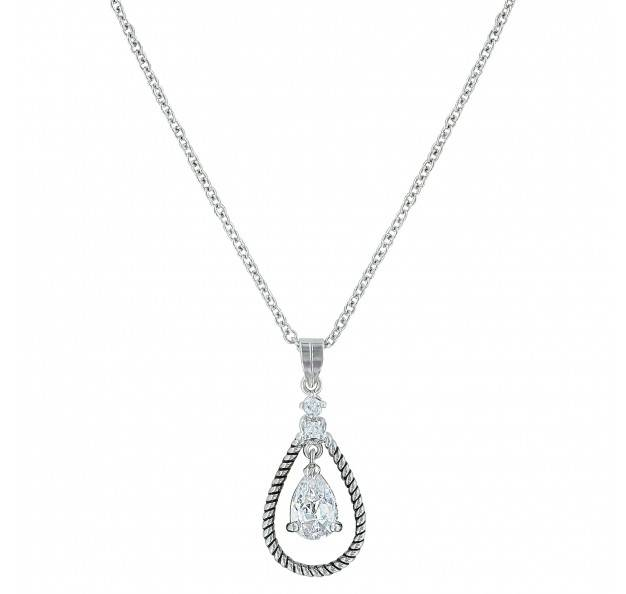 Montana Silversmiths Catch The Rain Cubic Zirconia Roped Necklace