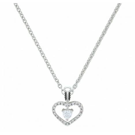 Montana Silversmiths Straight To The Heart Arrow Cubic Zirconia Necklace