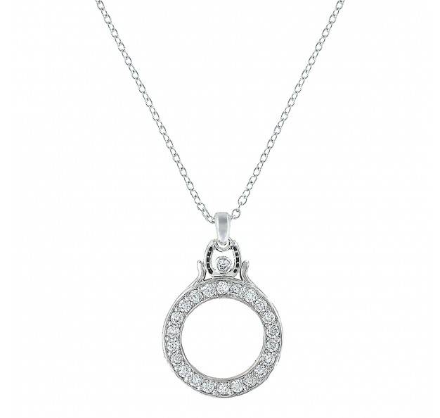 Montana Silversmiths Sitting On Top Of The World Horseshoe Necklace