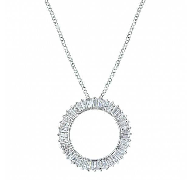 Montana Silversmiths Twilight Halo Circle Baguette Necklace