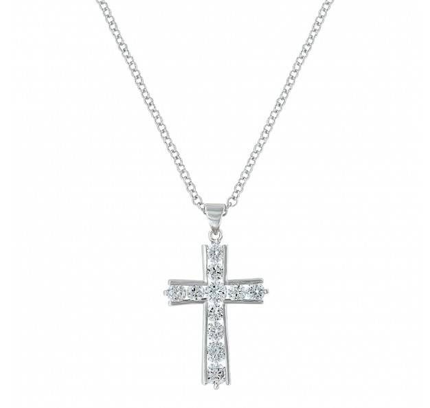Montana Silversmiths Round Bling Brilliance Cross Necklace