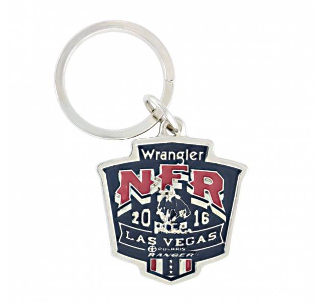 Montana Silversmiths Wrangler NFR 2016 Painted Shield Key Ring