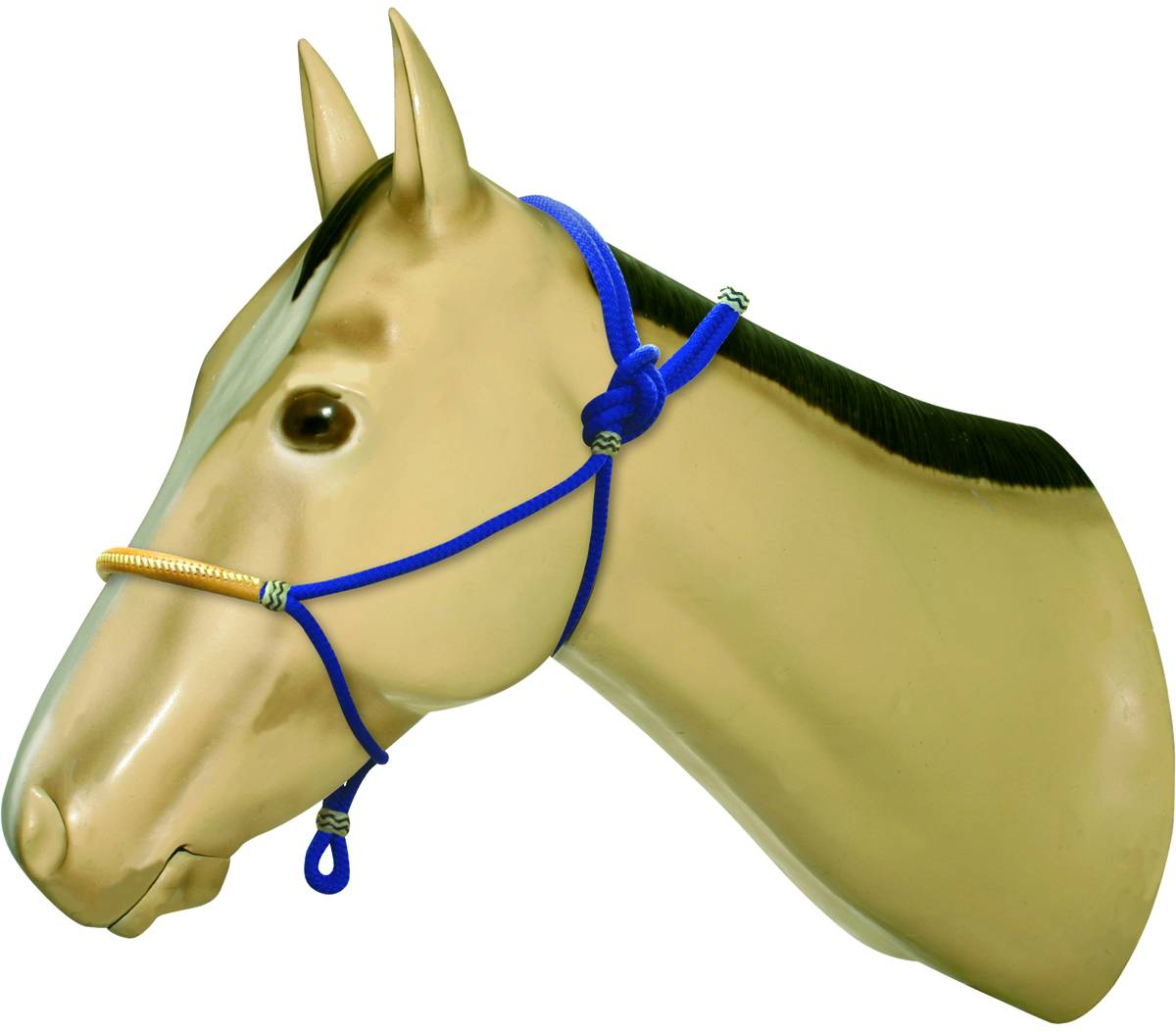 Action Rope Halter With Leather Noseband