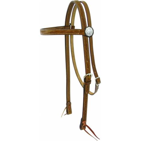 Action Silver Trim Browband Headstall