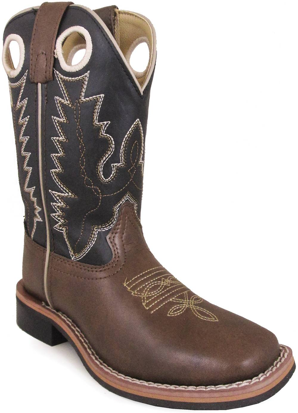 Smoky Mountain Blaze Square Toe Boots - Youth - Brown/Black
