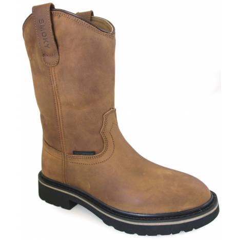 Smoky Mountain Scottsdale Waterproof Round Toe Boots - Youth - Brown