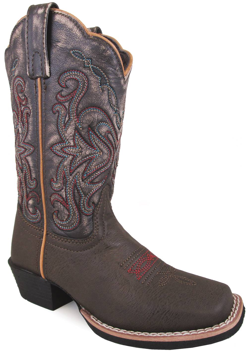 Smoky Mountain Fusion 2 Square Toe Boots - Childrens - Brown/Black Vintage