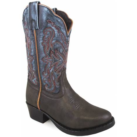 Smoky Mountain Fusion 2 Square Toe Boots - Childrens - Brown/Blue Vintage