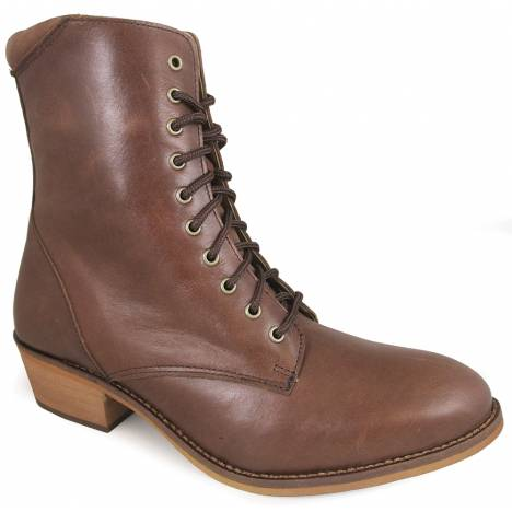 Smoky Mountain Lacer 7'' R Toe Leather Boots - Ladies - Antique Brown