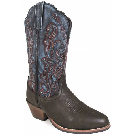 Smoky Mountain Fusion 1 Western Boots - Ladies - Brown/Vintage Blue