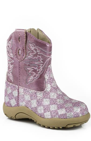 Roper Cowbabies Glitter Check Western Boots - Infant Girls