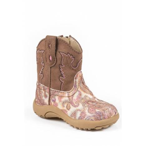 Roper Cowbabies Glitter Paisley Western Boots - Infant Girls