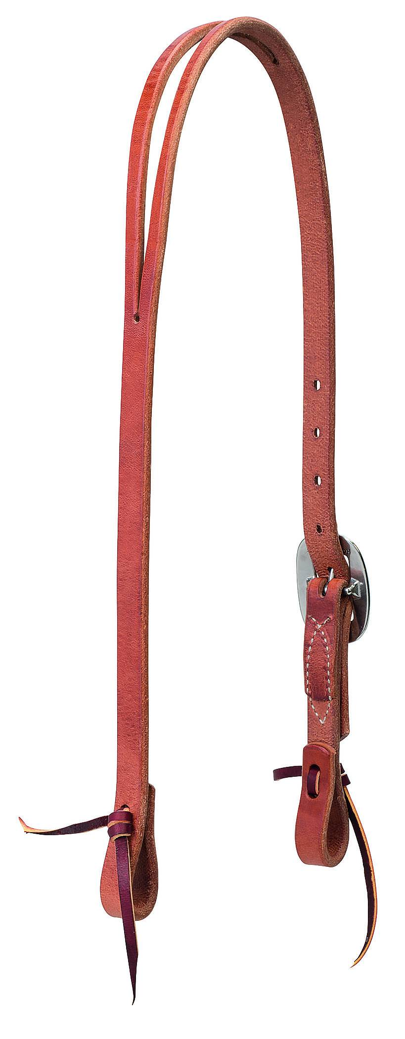 Weaver Buttered Premium Harness Leather Split Ear Headstall - Floral Hardware