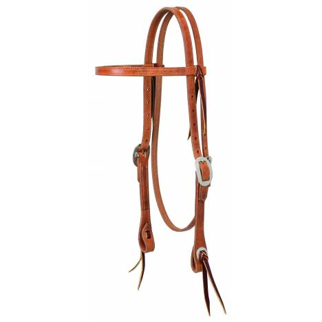 Weaver Buttered Premium Harness Leather Browband Headstall