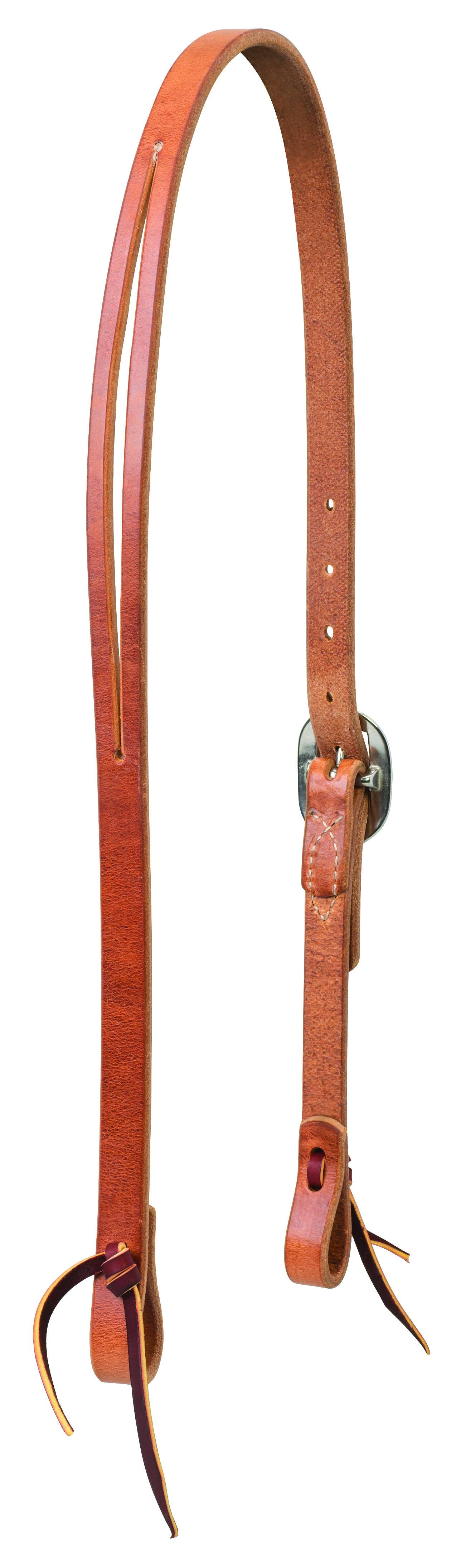 Weaver Buttered Premium Harness Leather Split Ear Headstall