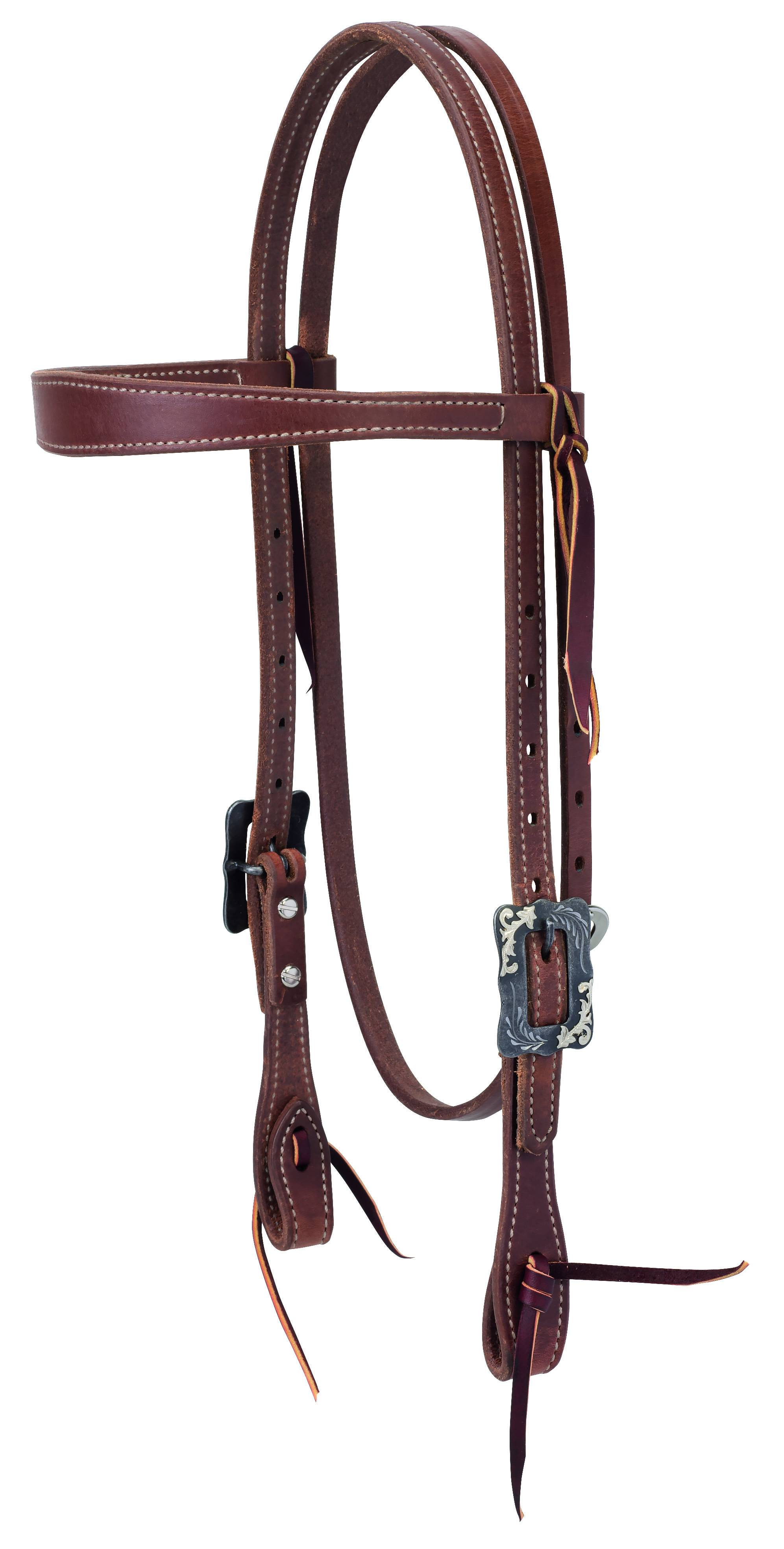 Weaver Protack Slim Cowboy Browband Headstall Oiled Russet
