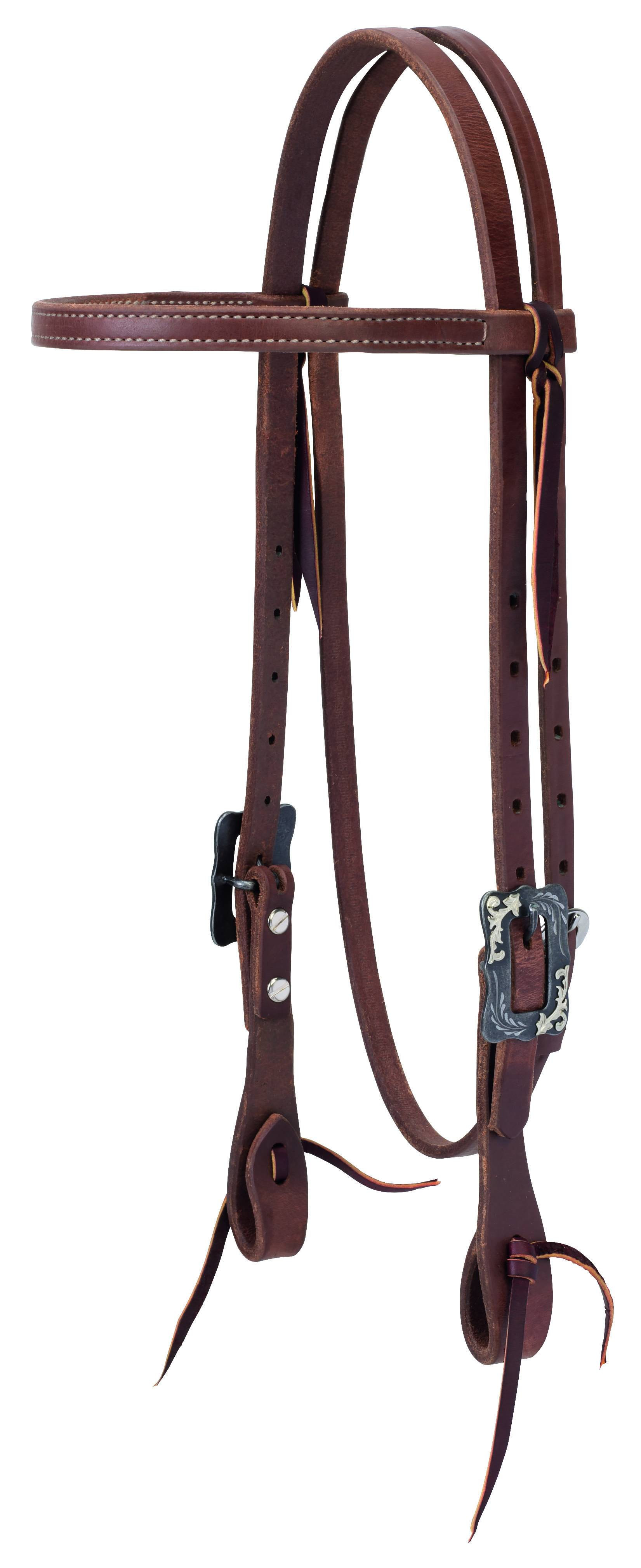 Weaver Protack Straight Browband Headstall Oiled Russet