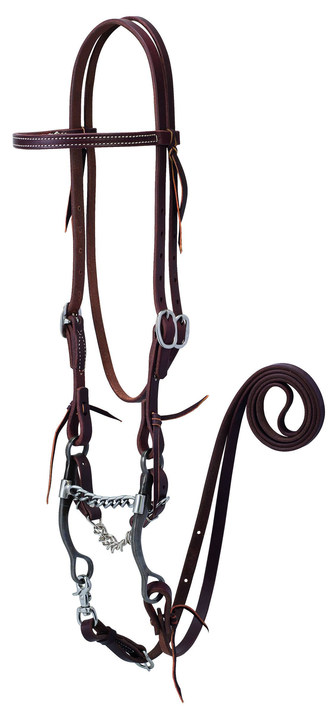Weaver Working Tack Bridle With Chain Mouth Bit