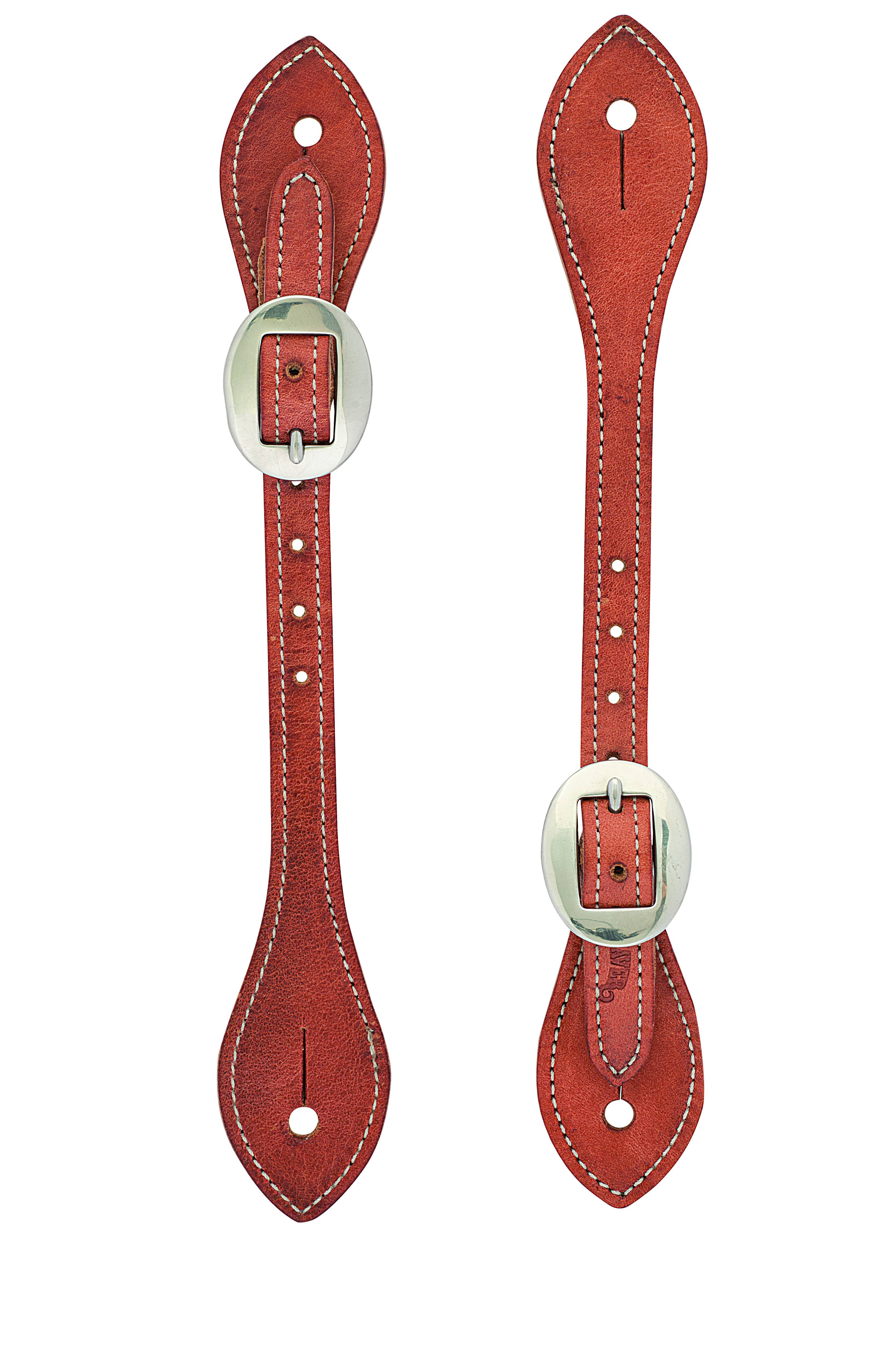 Weaver Mens Flared Harness Leather Spur Straps