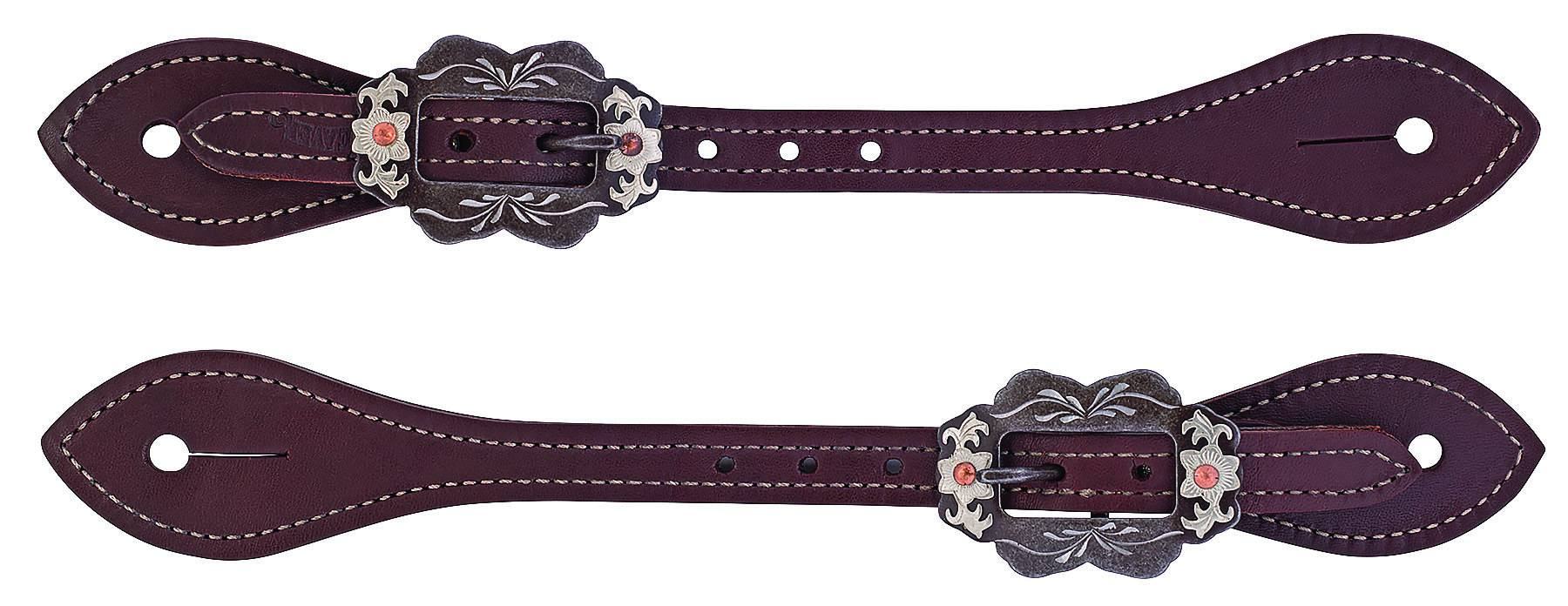 Weaver Mens Flared Oiled Harness Leather Spur Straps