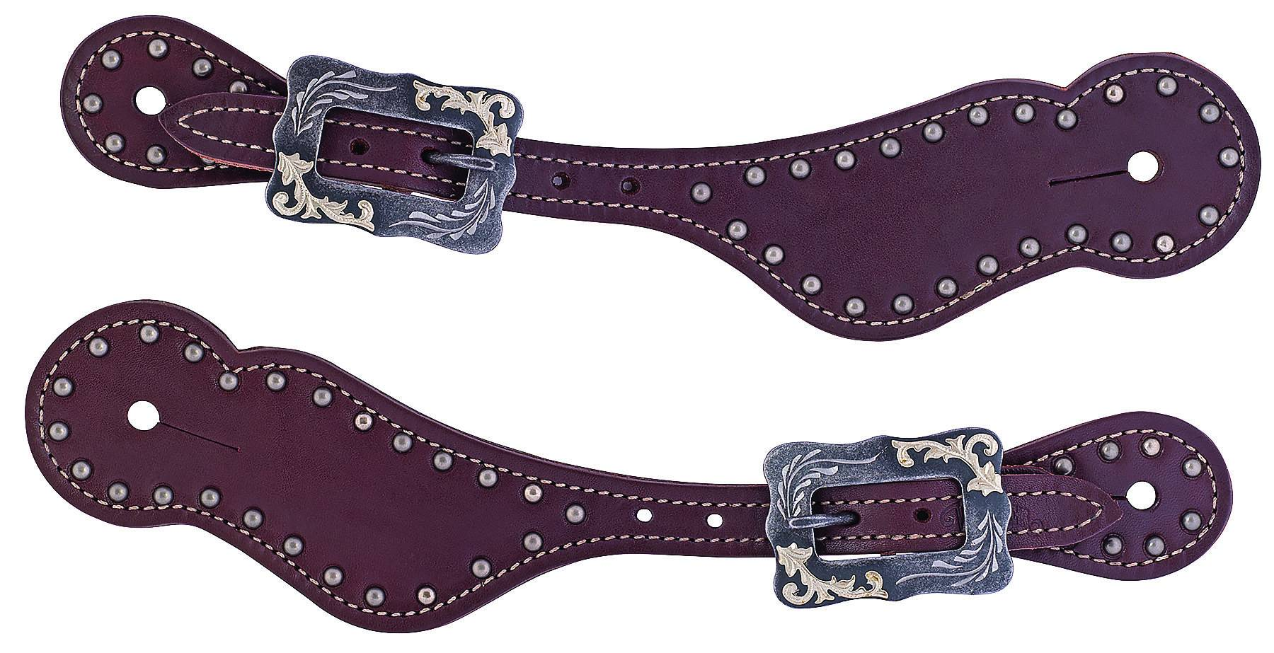 Weaver Ladies Oiled Harness Leather Spur Straps