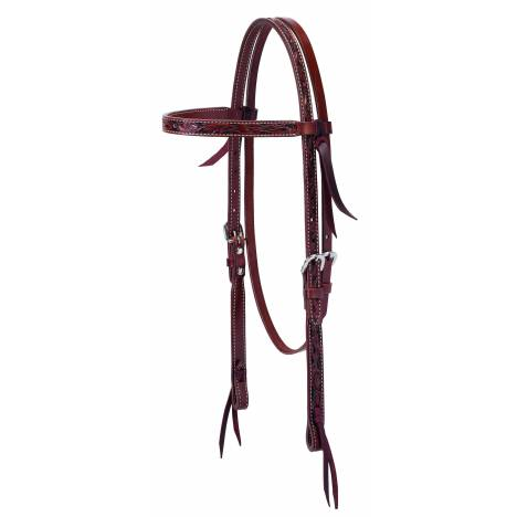 Weaver Floral Carved Browband Headstall