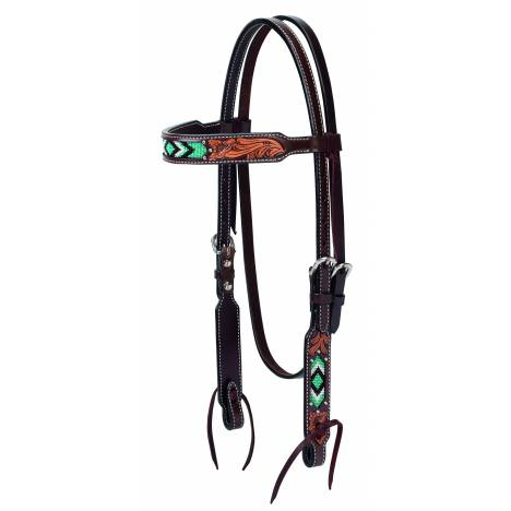 Weaver Diamond Beaded Browband Headstall