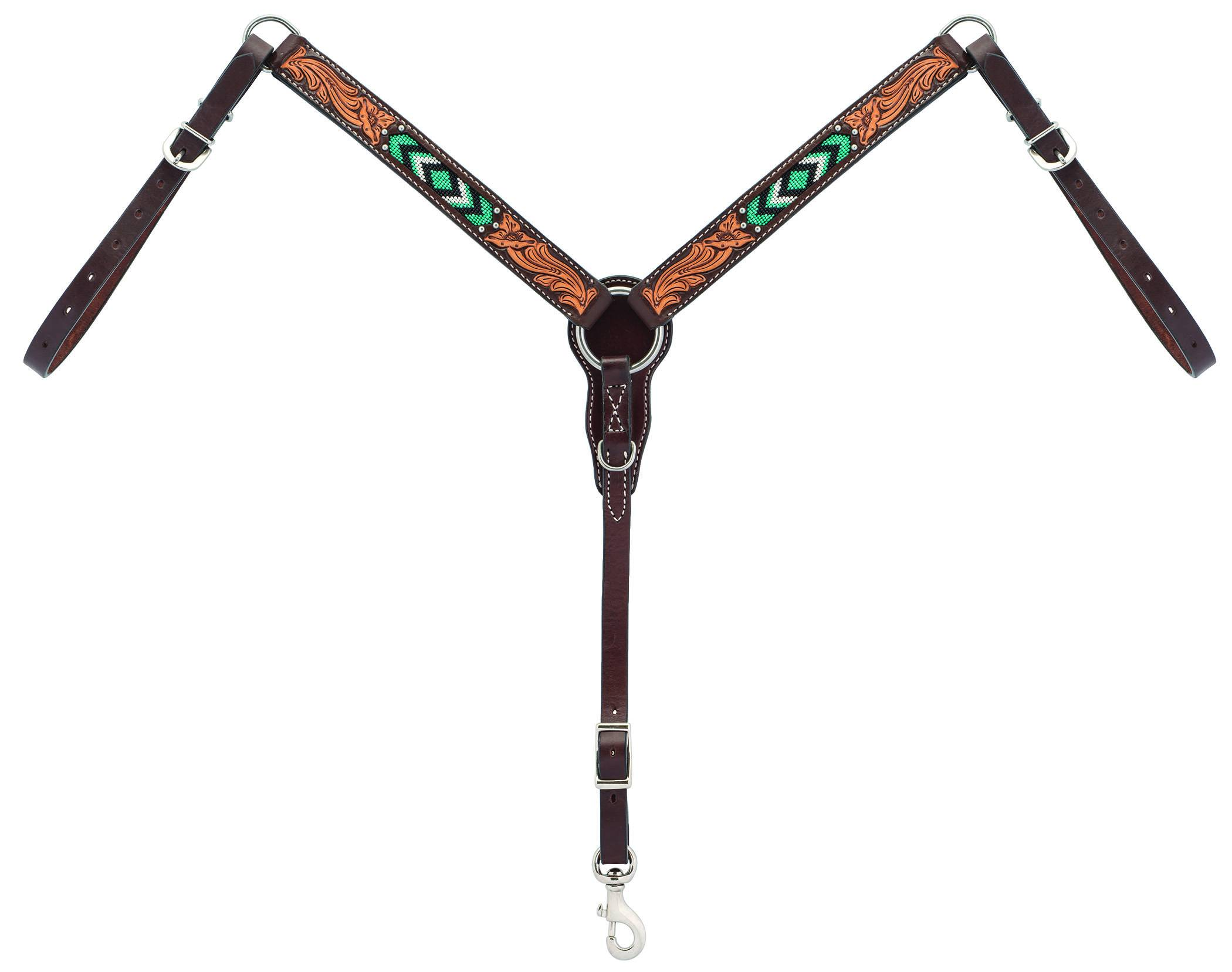 Weaver Diamond Beaded Straight Pony Breast Collar