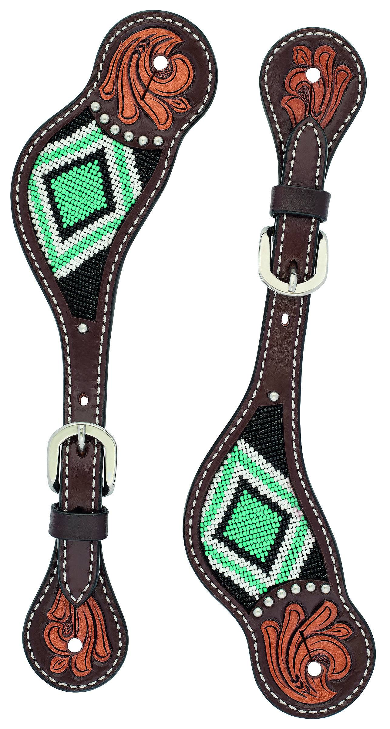 Weaver Beaded Diamond Spur Straps - Ladies