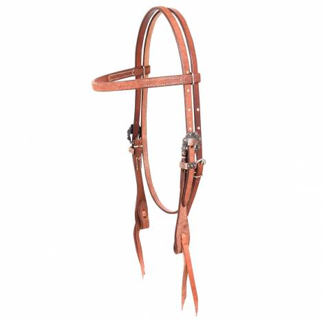 Martin Cowboy Antique Copper Buckles Headstall- Roughout