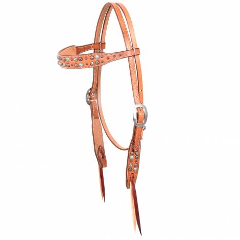 Martin Mix Match Dots Browband Headstall- Skirting Leather