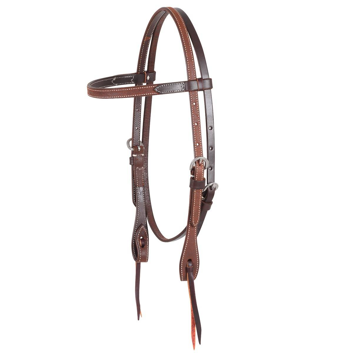 Martin Stainless Buckle Knots Browband Headstall-Roughout