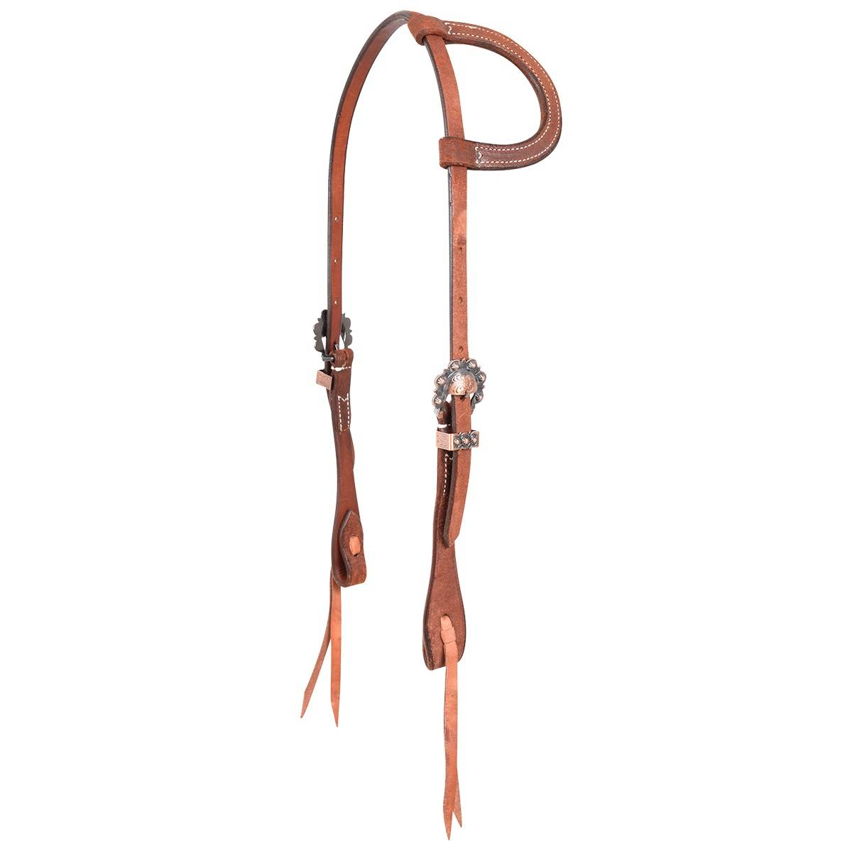 Martin Cowboy Antique Copper Split Ear Headstall- Roughout