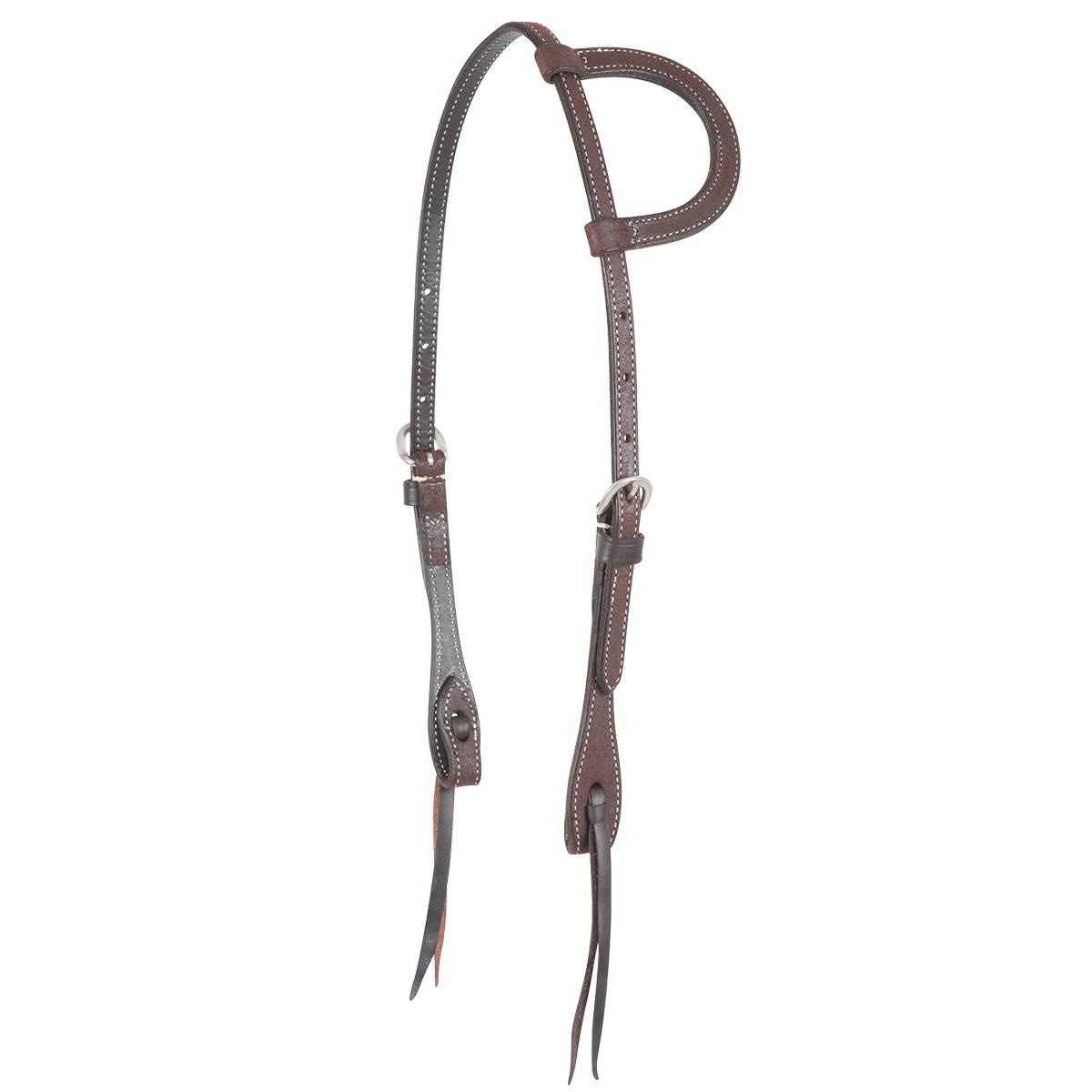 Martin Stainless Buckle Knots Split Ear Headstall- Roughout