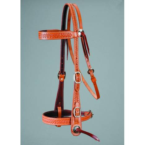 Colorado Saddlery Basket Stamp Old Timer Headstall
