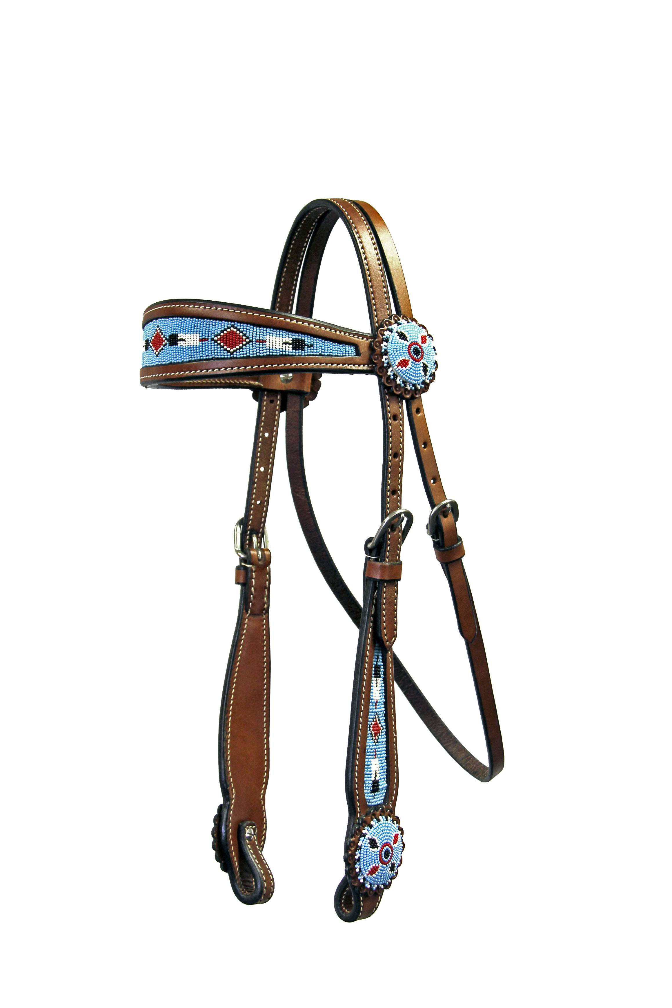Colorado Saddlery Big Sky Beaded Headstall
