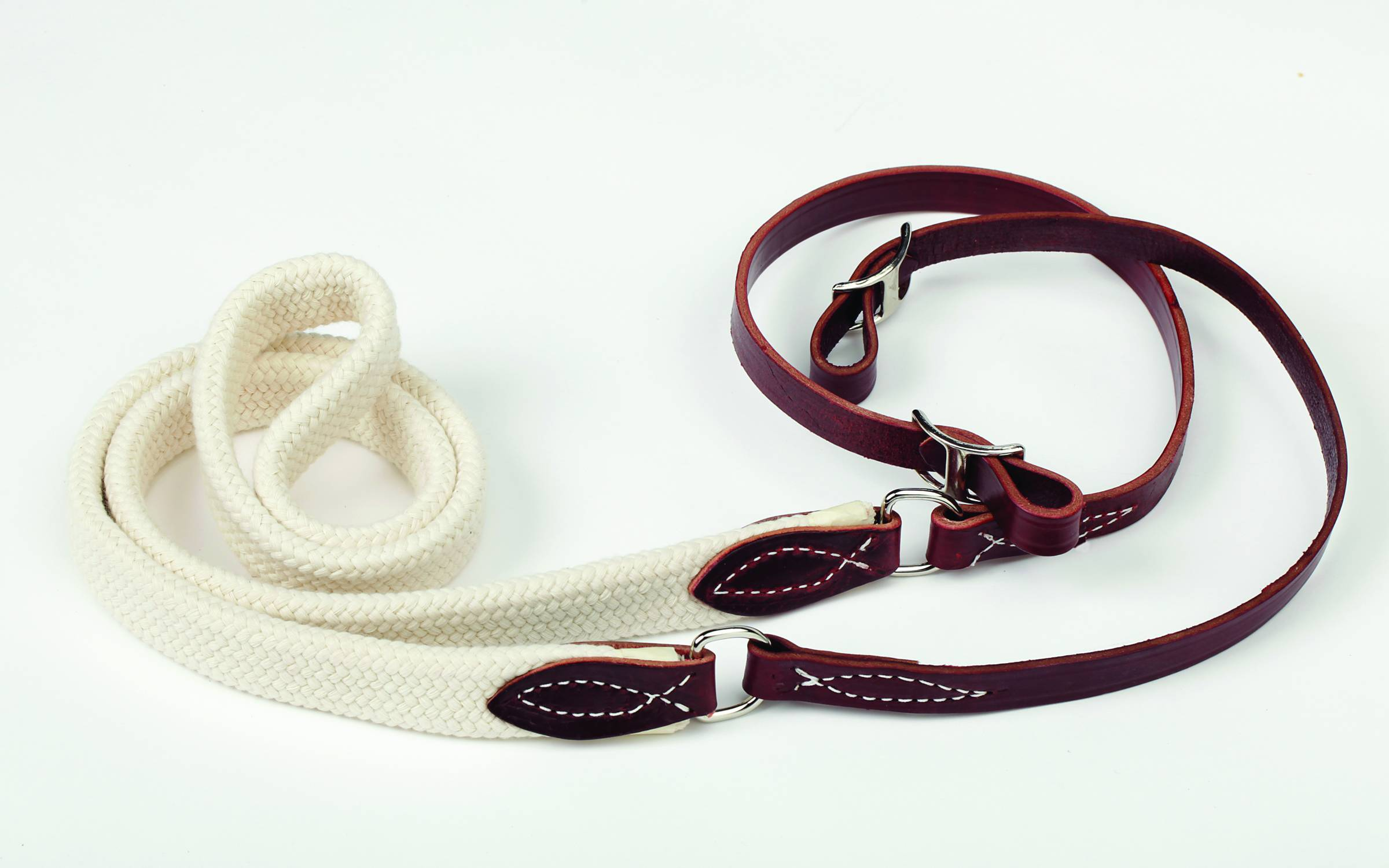 Colorado Saddlery Braided Cotton Center Latigo Roper And Contest Rein
