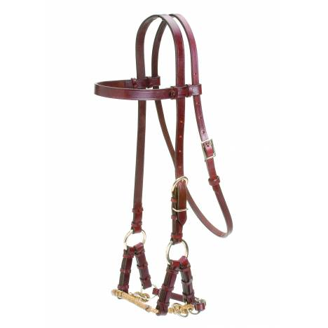 Colorado Saddlery Braided Nose Sidepull With Rosewood Headstall