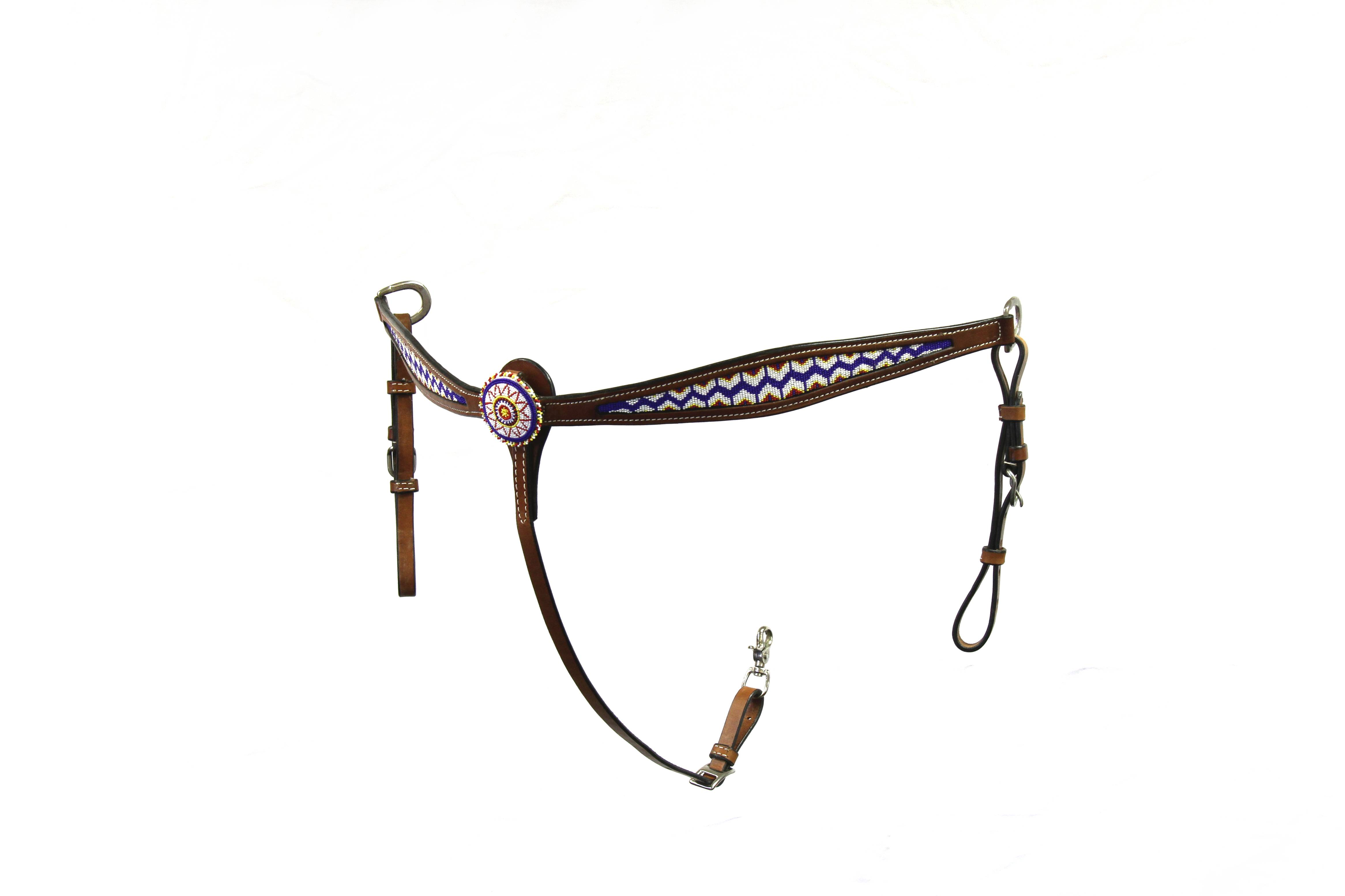 Colorado Saddlery Classic Beaded Breast Collar