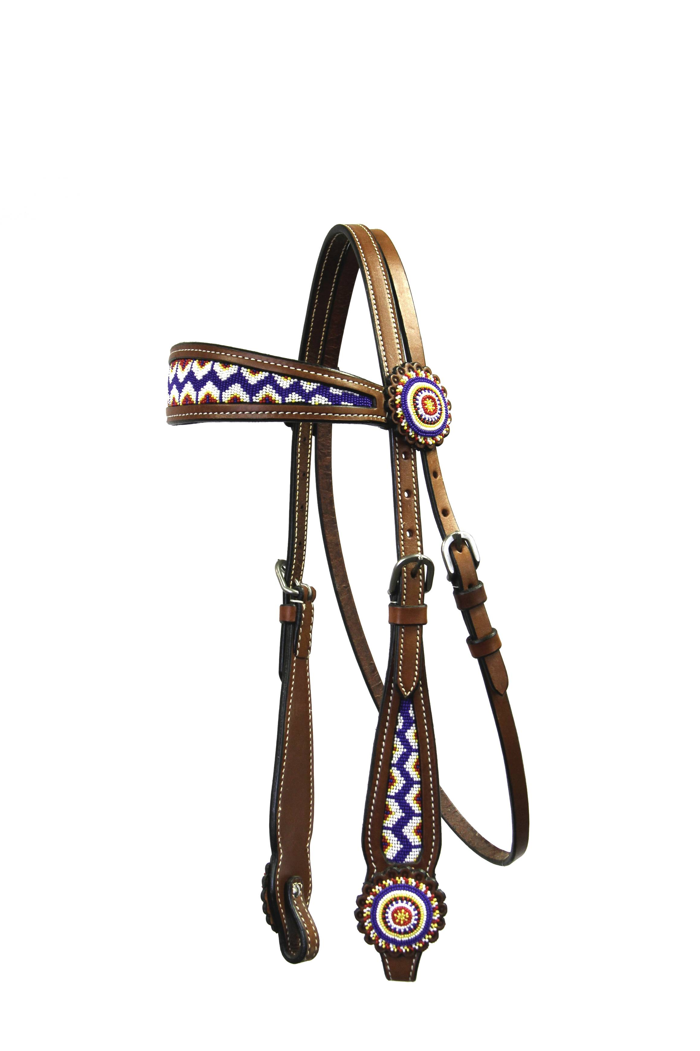 Colorado Saddlery Classic Beaded Headstall