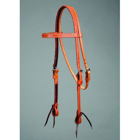 Colorado Saddlery Colorado Gold Basket Stamped Browband Headstall