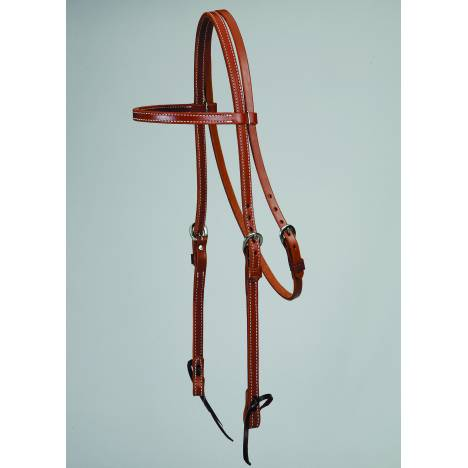 Colorado Saddlery Oiled Skirting Browband Headstall