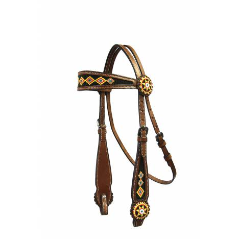 Colorado Saddlery Gold Rush Beaded Headstall