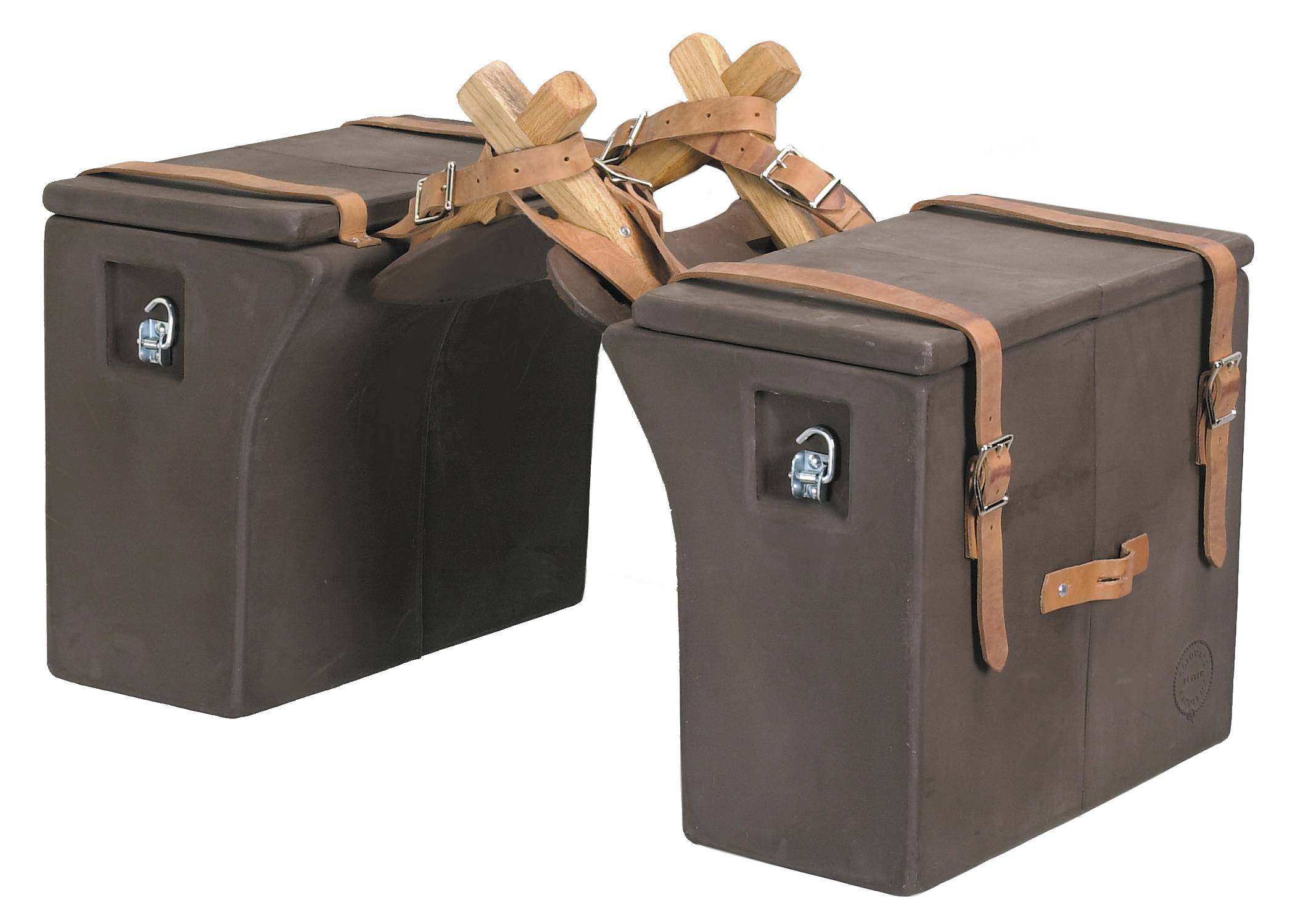 Colorado Saddlery Hard Side Panniers With Leather Straps