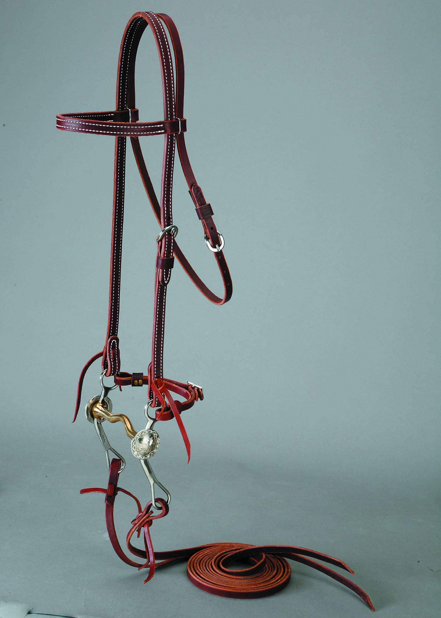 Colorado Saddlery Latigo Browband Bridle Set With Missoula Curb Bit